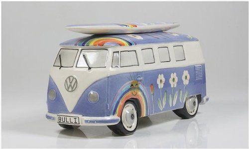 VW Bus T1 - Surfbulli Spardose Navy