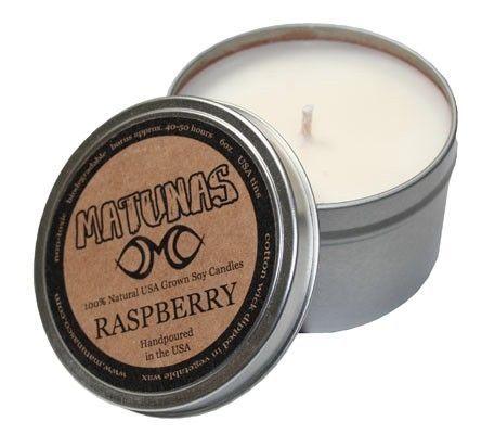 Matunas Candle 100% Natural Raspberry