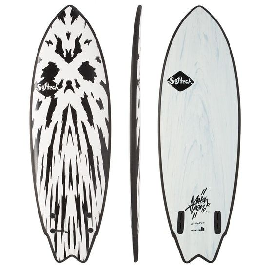 Softech Mason Twin FCS2  5.10 Gunmetal Black Softboard