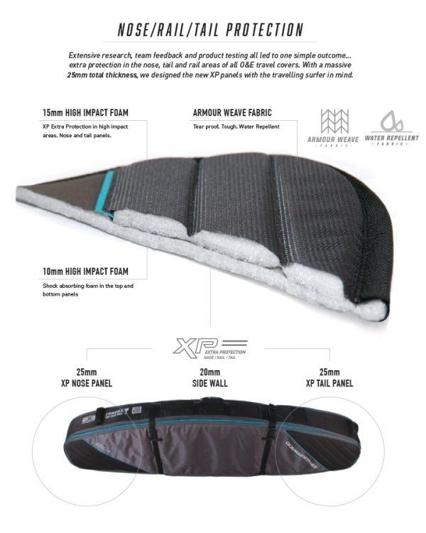 Ocean Earth Triple Wheelie Shortboard Bag