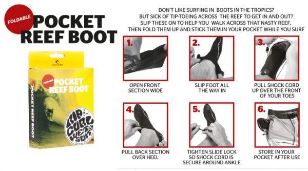 Rip Curl Pocket Reef Boot 1mm